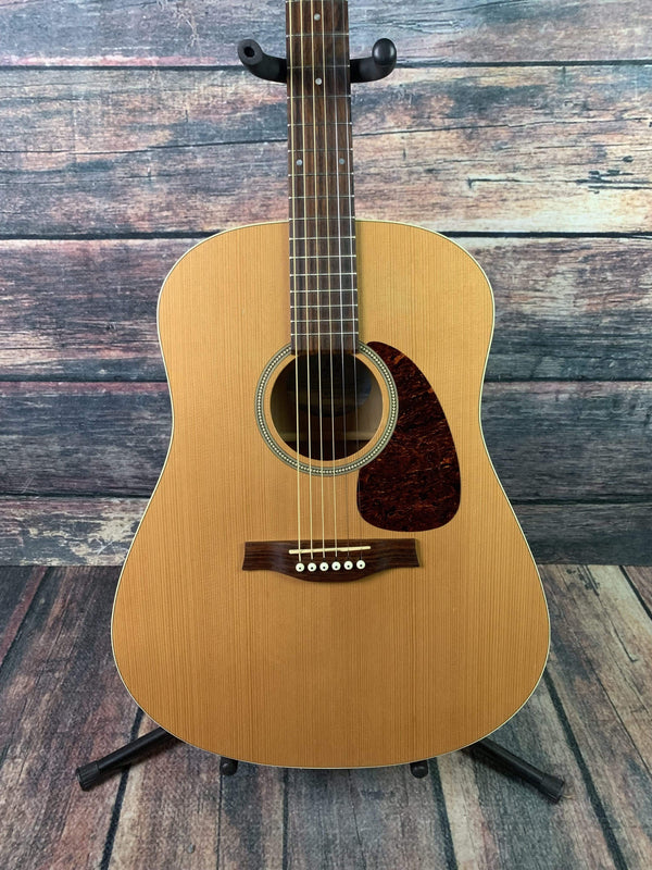 used seagull s6 slim acoustic electric guitar with hard shell case. Black Bedroom Furniture Sets. Home Design Ideas