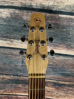 Seagull Acoustic Guitar Used Seagull Excursion Natural Folk Solid Spruce Isyst Natural Acoustic Electric Guitar with Gig Bag