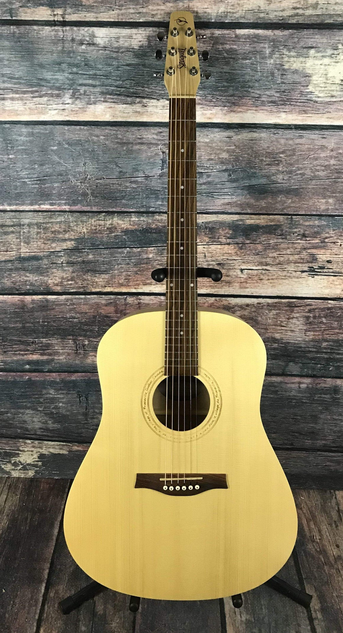 Seagull Acoustic Guitar Used Seagull Excursion Natural Solid Spruce Acoustic Guitar with Gig Bag
