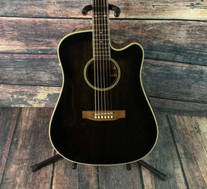 Sigma Acoustic Guitar Used Sigma by Martin MIK CFM-12BTT Thinline Acoustic Electric Guitar
