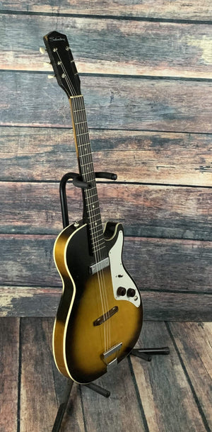 Silvertone Electric Guitar Used Silvertone 1959 1326 Stratotone Mars by Harmony USA with Case