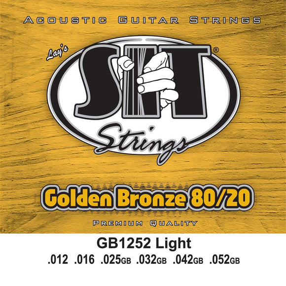 SIT Strings Acoustic Guitar Strings SIT Golden Bronze Light GB1252 Acoustic Guitar Strings