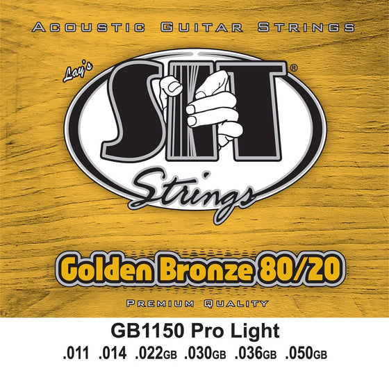 SIT Strings Acoustic Guitar Strings SIT Golden Bronze Pro Light GB1150 Acoustic Guitar Strings