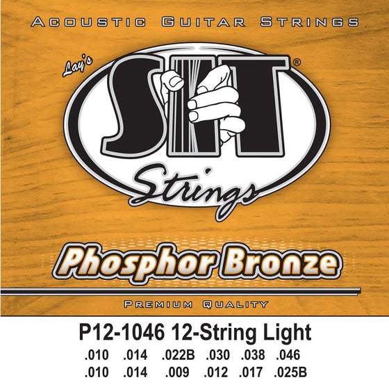 SIT Strings Acoustic Guitar Strings SIT Phosphor Bronze 12 String Light P121046 Acoustic Guitar Strings