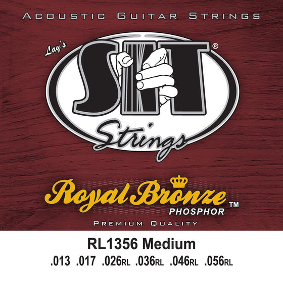 SIT Strings Acoustic Guitar Strings SIT Royal Bronze Medium RL1356 Acoustic Guitar Strings