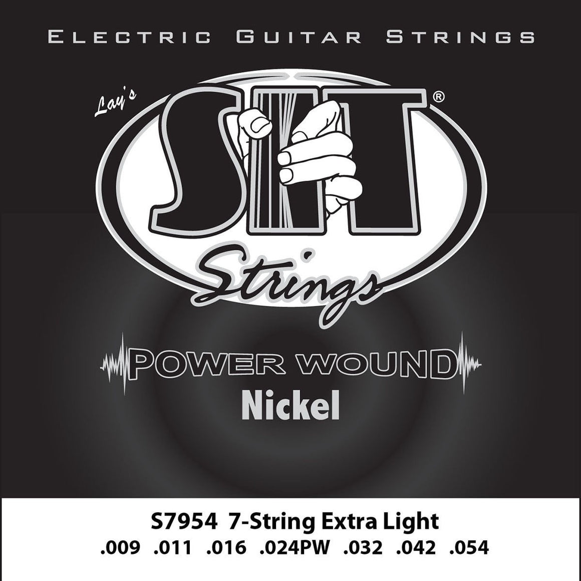 SIT Strings Electric Guitar Strings SIT Power Wound Nickel 7 String Extra Light Electric Guitar Strings