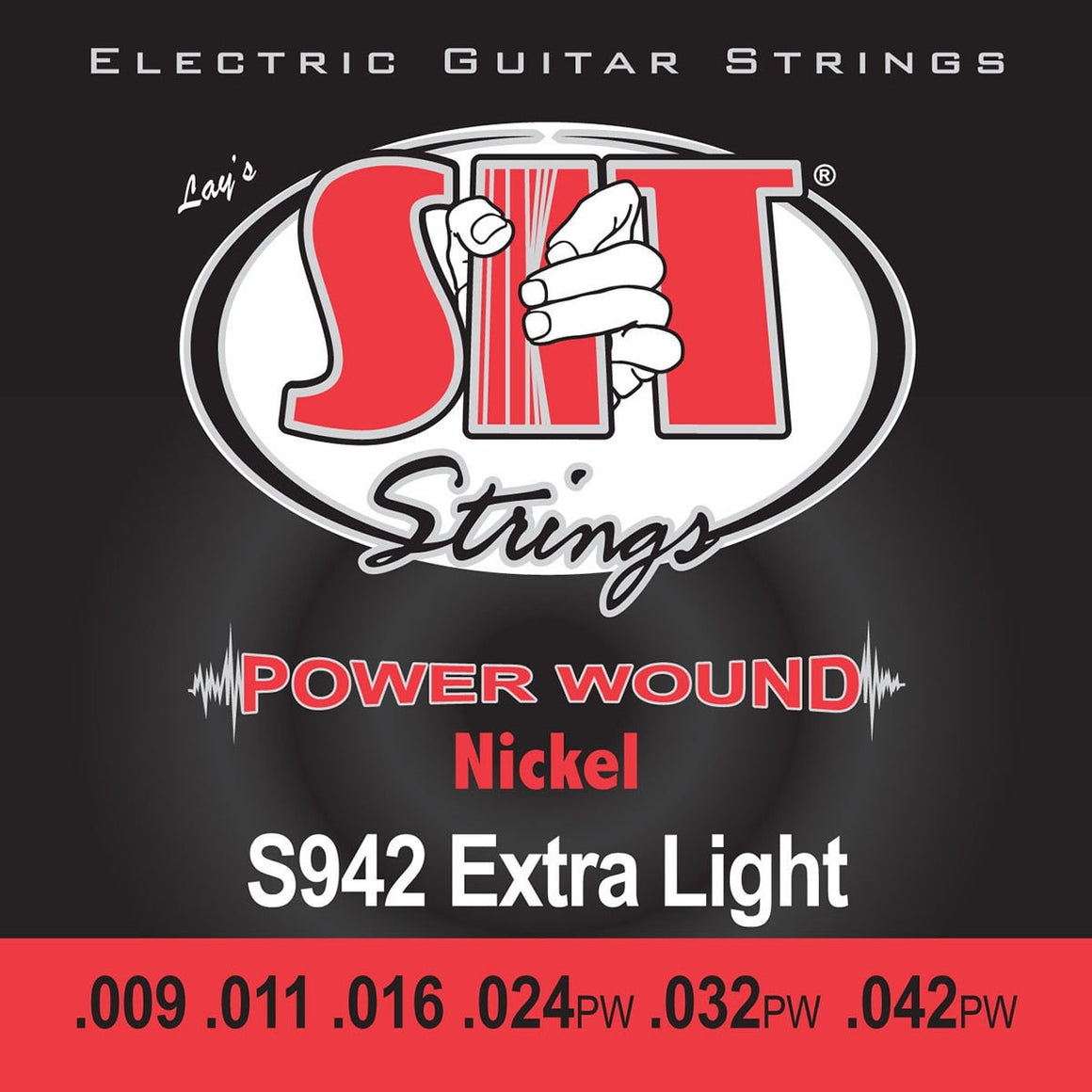SIT Strings Electric Guitar Strings SIT Power Wound Nickel Extra Light S942 Electric Guitar Strings