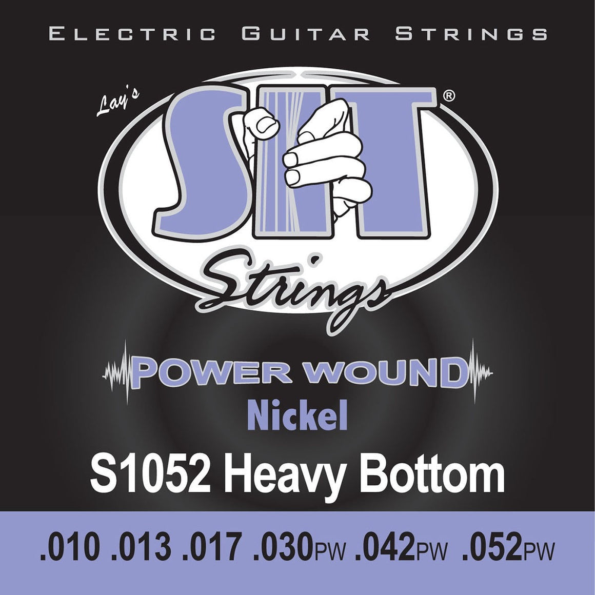 SIT Strings Electric Guitar Strings SIT Power Wound Nickel Heavy Bottom S1052 Electric Guitar Strings