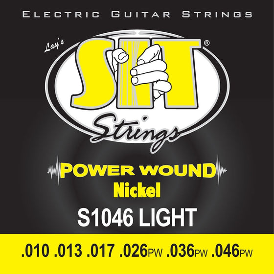 SIT Strings Electric Guitar Strings SIT Power Wound Nickel Light S1046 Electric Guitar Strings