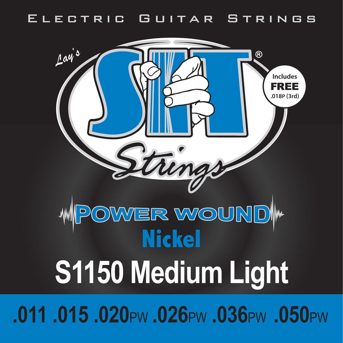 SIT Strings Electric Guitar Strings SIT Power Wound Nickel Medium Light S1150 Electric Guitar Strings