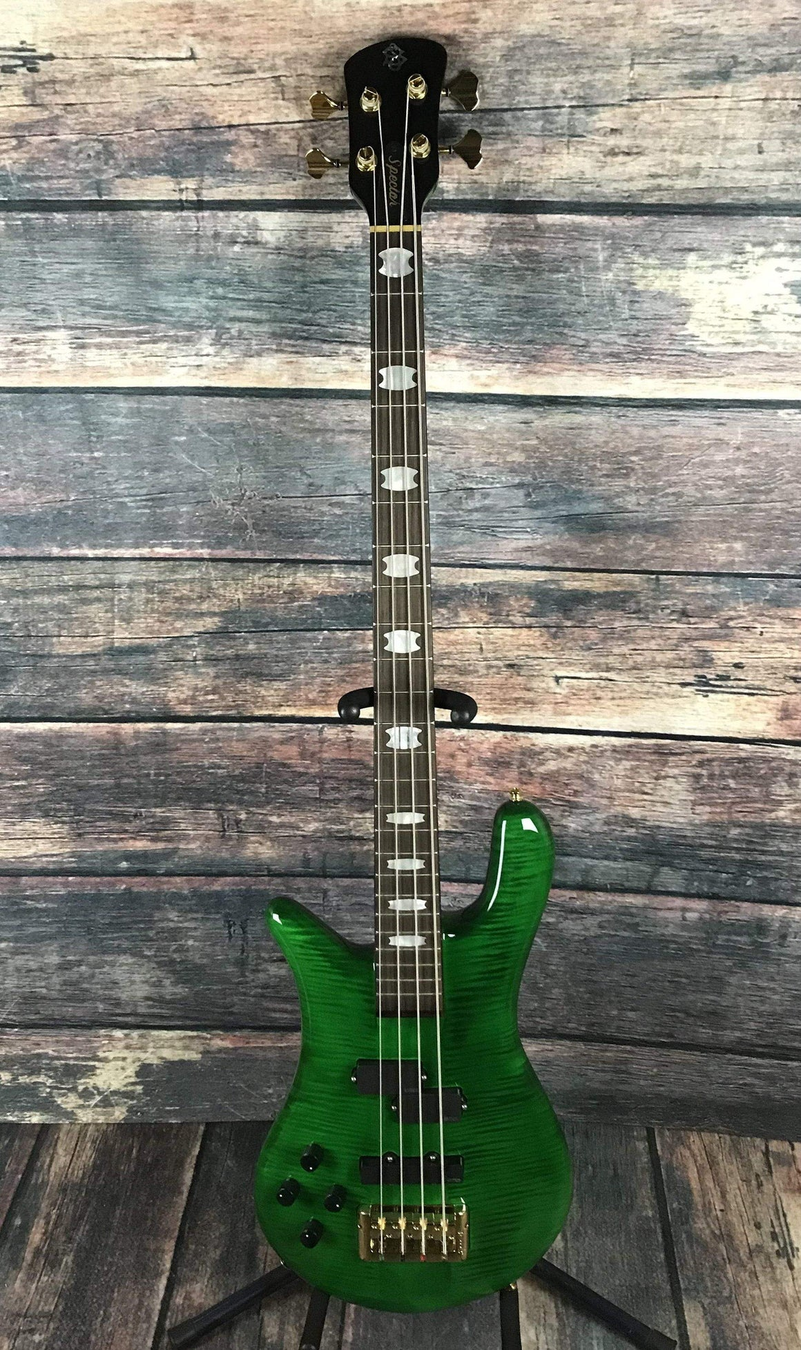 Spector Electric Bass Bass Only Spector Left handed Euro 4 LX Electric Bass Guitar- Flamed Green