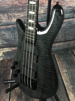 Spector Electric Bass Spector Left handed Euro 4 LX Electric Bass Guitar- Flamed Black Stain