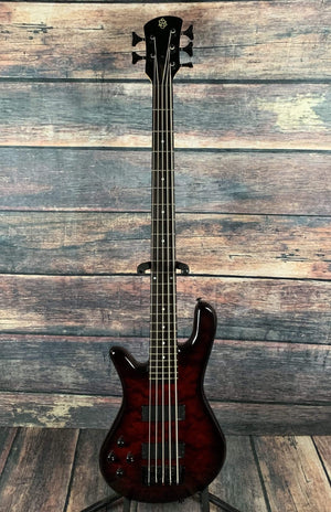 Spector Electric Bass Used Spector Left Handed Legend Classic 5 Bass Electric Guitar with Gig Bag