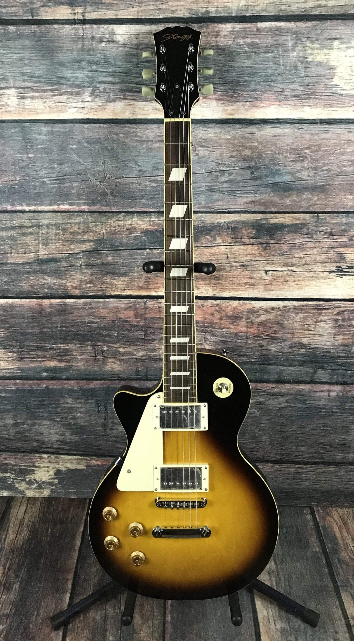 Stagg Electric Guitar Guitar Only Stagg Left Handed L320 Les Paul Style Electric Guitar- Sunburst