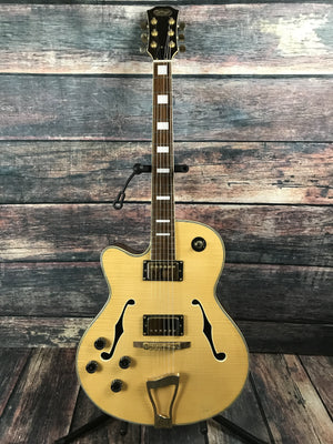 Stagg Electric Guitar Natural Guitar Only Stagg Left Handed A-350 Natural Jazz Electric Guitar