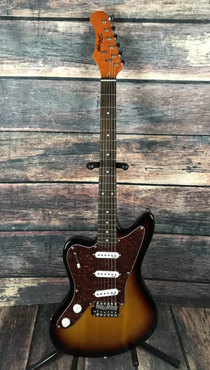 Stagg Electric Guitar Stagg Left Handed M350 Electric Guitar- Sunburst