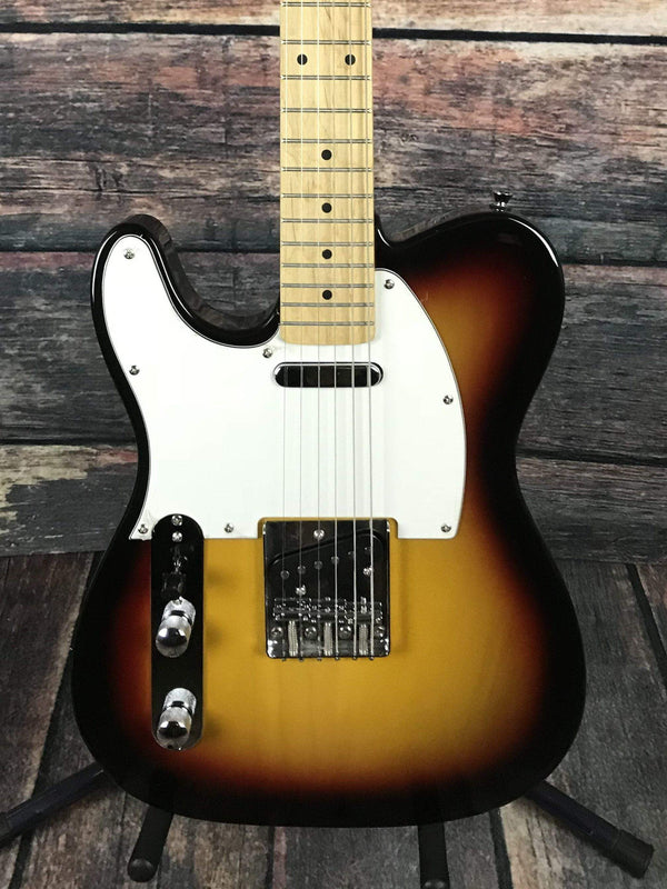 Stagg Left Handed T320 Telecaster Style Electric Guitar Sunburst
