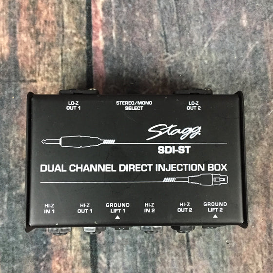 Stagg pedal Used Stagg SDI-ST Dual Channel Direct Injection Box