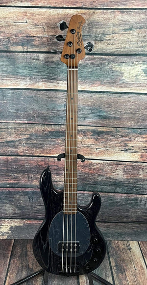 Sterling by Music Man Electric Bass Sterling by Music Man StingRay Ray34 ASH-M2 Electric Bass- Black Ash