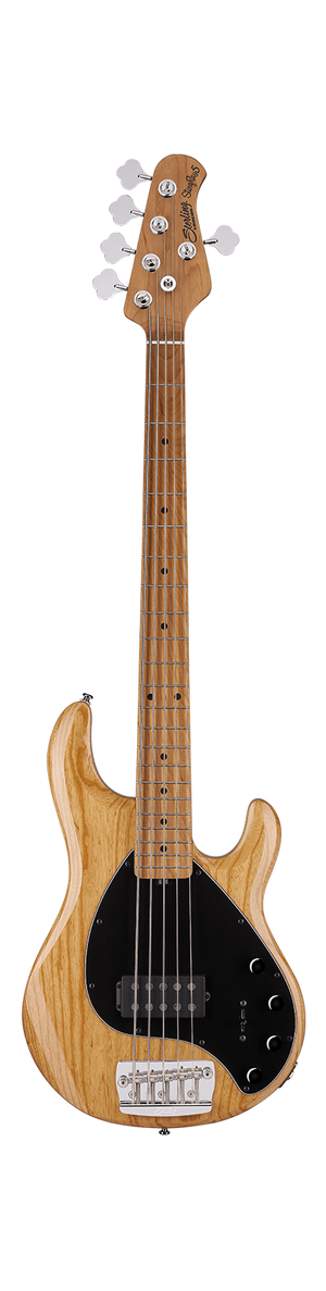 Sterling by Music Man Electric Bass Sterling by Music Man StingRay Ray35ASH 5-String Electric Bass- Natural Ash