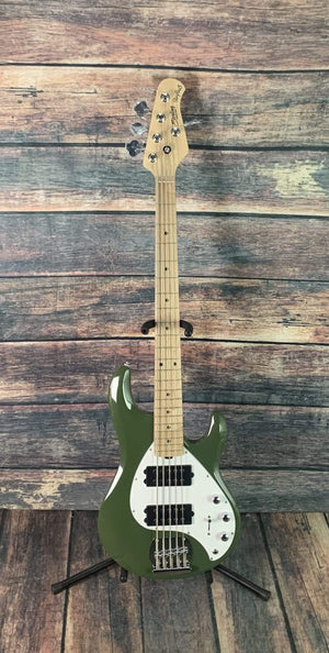 Sterling by Music Man Electric Bass Sterling by Music Man StingRay Ray5HH-OLV-M1 Electric Bass - Olive
