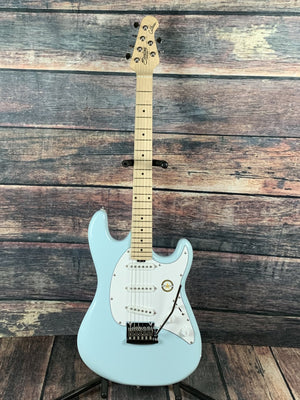 Sterling by Music Man Electric Guitar Sterling by Music Man Cutlass CT30 SSS Electric Guitar- Daphne Blue