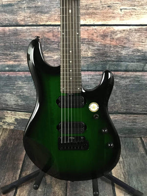 Sterling by Music Man Electric Guitar Sterling by Music Man JP70-TGB John Petrucci Signature 7 String Electric Guitar- Trans green burst
