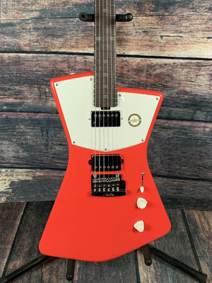 Sterling by Music Man Electric Guitar Sterling by Music Man STV60HH-FRD St. Vincent Signature Series HH Electric Guitar- Fiesta Red