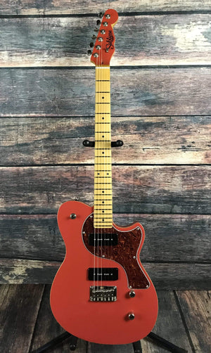 Sublime Guitars Electric Guitar Sublime Guitars Tomcat Standard Offset Electric Guitar- Fiesta Red