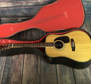 Suzuki Acoustic Guitar Used Suzuki 70's W300D Law Suit Era MIJ Dreadnought  Acoustic Guitar with Case