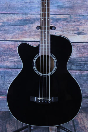 Takamine Acoustic Bass Black Bass Only Takamine Left Handed GB30CE Acoustic Electric Bass- Black