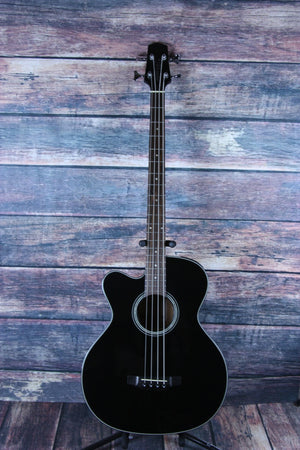 Takamine Acoustic Bass Takamine Left Handed GB30CE Acoustic Electric Bass- Black