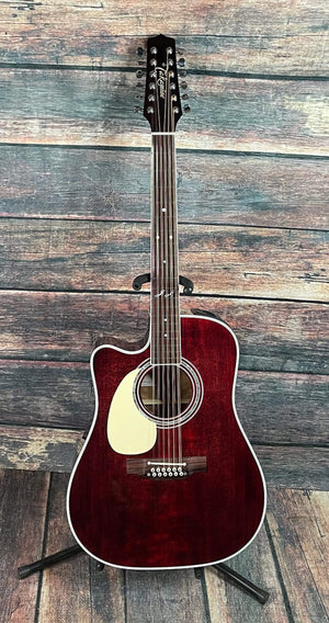 Takamine Acoustic Electric Guitar Takamine Left Handed JJ325SRC-12 LH John Jorgenson Signature Series 12-String Acoustic Electric Guitar