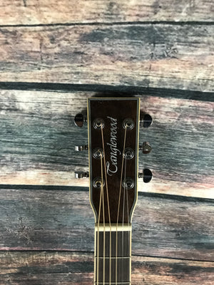 Tanglewood Acoustic Guitar Tanglewood TW4SFCEWB Super Folk Acoustic Electric Guitar- Whiskey Barrel Burst