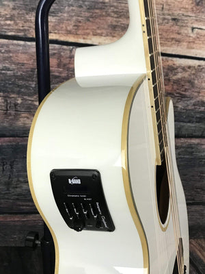 Tanglewood Acoustic Guitar Tanglewood TW4SFCEWH Super Folk Acoustic Electric Guitar-Gloss White