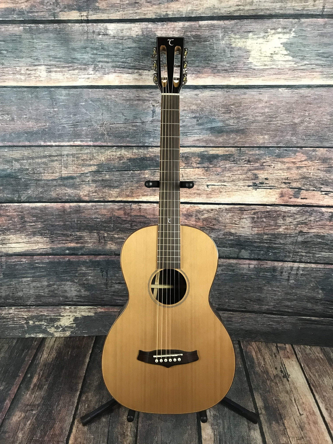 Tanglewood Acoustic Guitar Used Tanglewood Java Series TWJPE Parlour Acoustic Guitar with gig bag