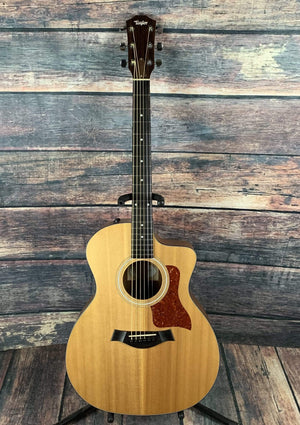 Taylor Acoustic Guitar Used Taylor 114E Acoustic Electric Guitar with Hard Shell Case
