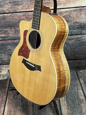 Taylor Acoustic Guitar Used Taylor Left Handed Taylor 214ce-K DLX Koa Acoustic/Electric Guitar with Case