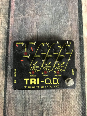 Tech 21 pedal Used Tech 21 Tri O.D. Overdrive/Distortion Pedal
