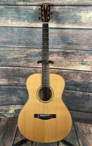 Teton Acoustic Guitar Used Teton STG205NT Cedar Top Grand Concert Size Acoustic Guitar with Teton Case