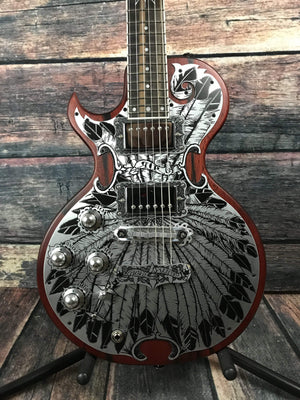 Teye Electric Guitar Teye Left Handed Rich Robinson Signature Magpie Salute Electric Guitar