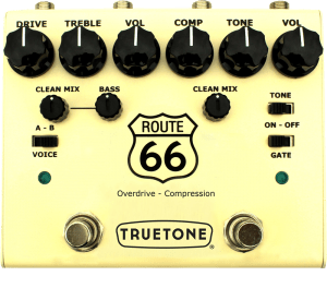 True Tone pedal True Tone V3 Route 66 Overdrive and Compression Pedal