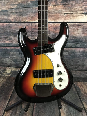 Univox Electric Bass Used Univox 70's Hi-Flyer 4 String Electric Bass wth Hard Shell Case