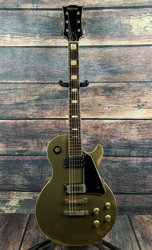 Univox Electric Guitar Used Univox 70's Gimme Custom Lawsuit Era Les Paul Gold Top  Electric Made in Japan with Univox Case