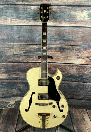Ventura Electric Guitar Used Ventura V-1007 Hollow Body Japanese Made Electric Guitar with Case