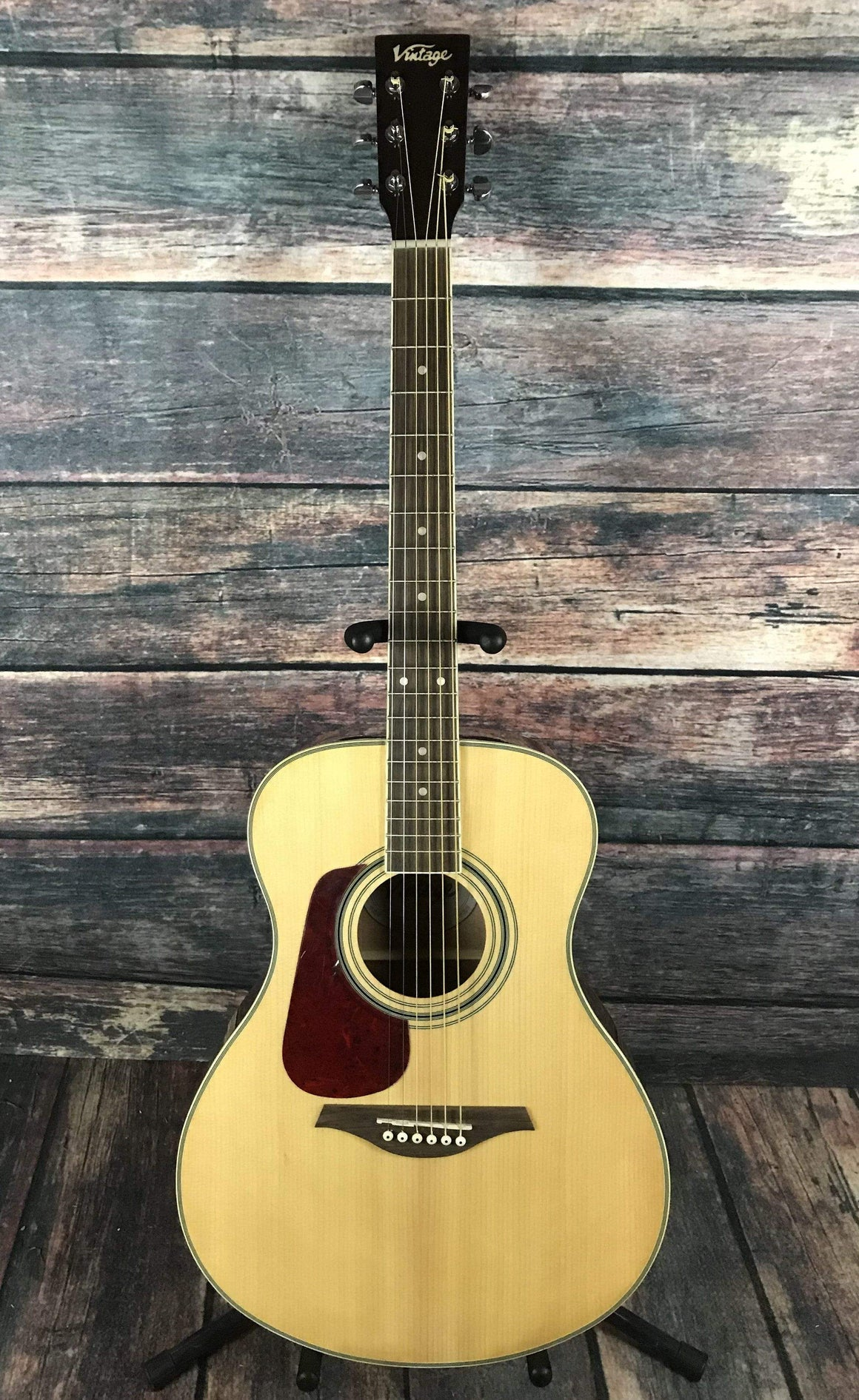 Vintage Acoustic Guitar Vintage Left Handed V300 Folk Sized Acoustic Guitar