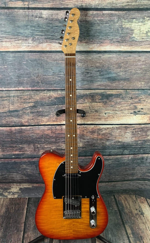 Warmoth Electric Guitar Used Warmoth Custom Built Partscaster Tele with Tweed Case
