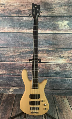 warwick Electric Bass Used Warwick Rockbass Streamer Standard 4 String Bass with Gig Bag- Natural Satin