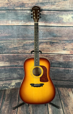 washburn Acoustic Guitar Used Washburn D-80SW USA Custom Shop Acoustic Guitar with Case