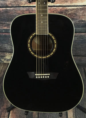 washburn Acoustic Guitar Used Washburn WD10S Acoustic Guitar with Gig Bag- Black